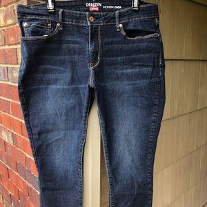 Levi's Denizen Modern Crop Jeans - Dark wash